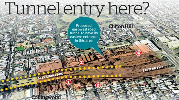 See below for those affected by the proposed tunnel path.