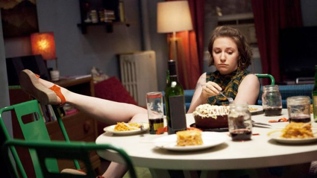 Hannah Horvath in HBO's <i>Girls</i>