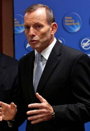Facing growing party angst: Tony Abbott.