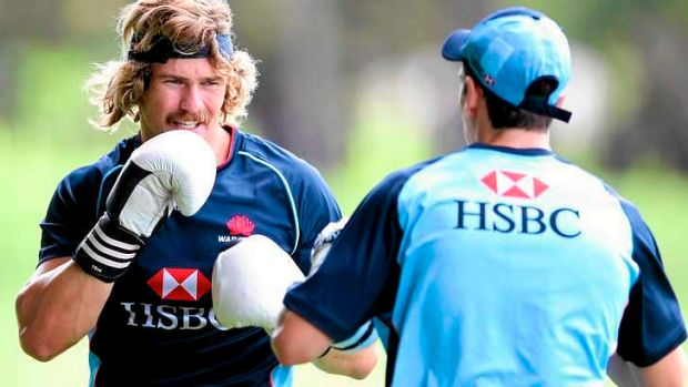 Back to work: Utility back Berrick Barnes, who has played just 20 minutes this season.