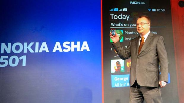 Nokia Asha 501: CEO Stephen Elop unveils the company's new weapon in the race to regain market share.