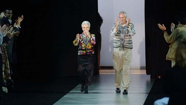 Dressed the rich and famous: Ottavio Missoni at a fashion launch in Milan 2004. The founder of the iconic fashion brand ...