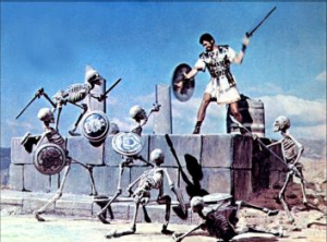 His skeleton fight may be the most famous special sequence in cinema history.