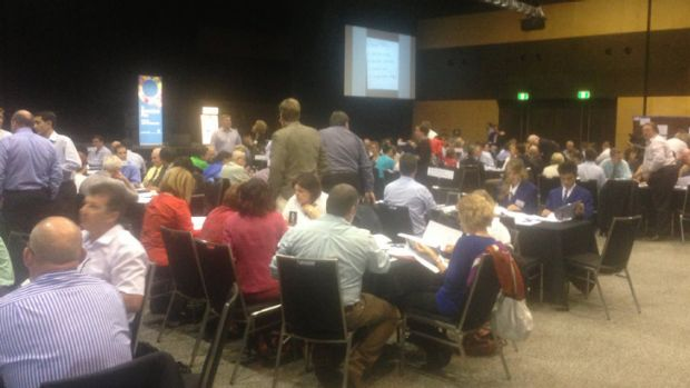 Delegates at the Queensland Plan summit in Mackay.