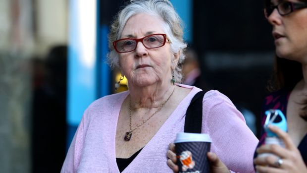 Midwife Jan Ireland leaves the Coroner's Court. The court heard she blocked medical staff's access to a cardiotocography ...
