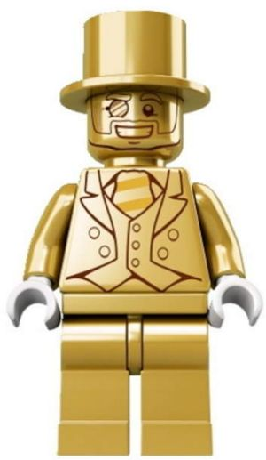 The elusive Mr Gold Lego figure, one of which was found at Tuggeranong this week.