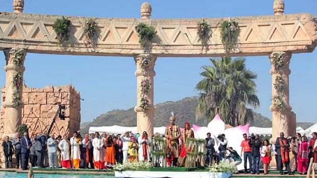 The controversial wedding ceremony in Sun City.