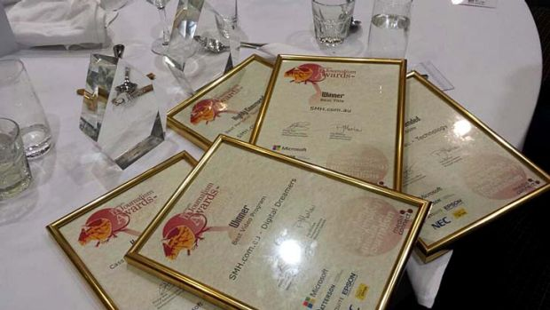 Big win: Fairfax's awards.