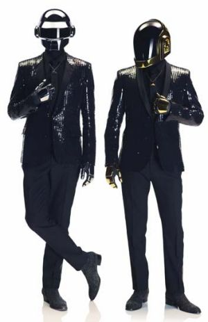 Dressed for success: Thomas Bangalter (left) and Guy-Manuel deHomem-Christo.