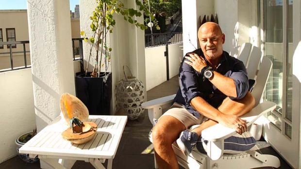 Home work: Peter Morrissey at his Darling Point unit.