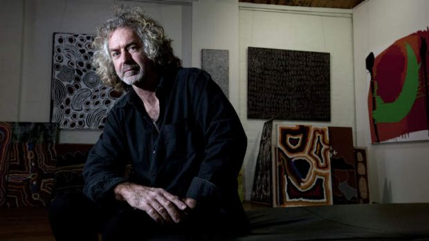 Writing on the wall: Michael Powell, director of Ochre gallery in Collingwood, expects he'll have to close down. 'You ...