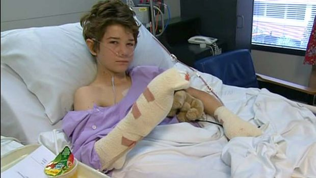 """Michael Boggan, 15, lost most of his fingers after a golf ball filled with explosives detonated in a backyard west of ..."