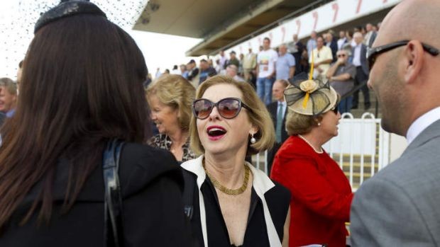 Busy week: Gai Waterhouse with connections at Rosehill on Saturday.