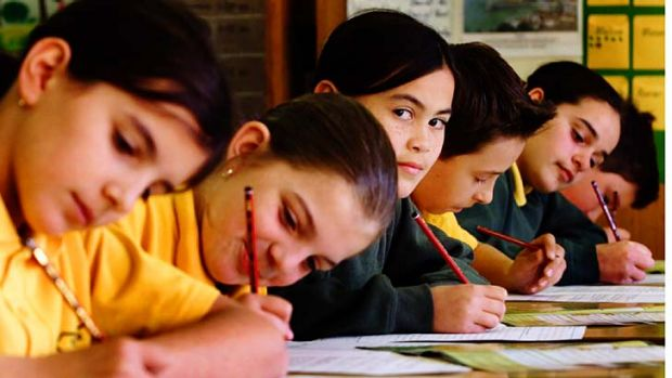 Pressure: The results of this Year 5 test could now make or break entry into independent and Catholic schools.