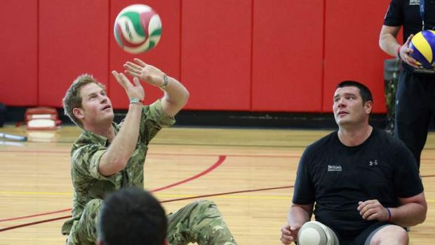 Ready, set: Prince Harry trains with the British Warrior Games team in Colorado.