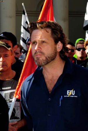 ETU Secretary Troy Gray.