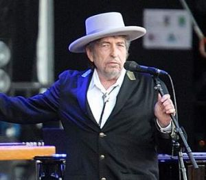 """US singer-songwriter Bob Dylan performing on at """"Les Vieilles Charrues"""" Festival in Carhaix, western France."""