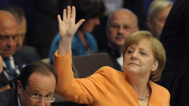 """I have nothing to hide"": German Chancellor Angela Merkel."