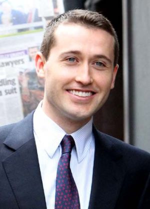 Tom Waterhouse arriving at the inquiry.