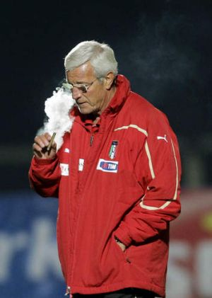 The Italian job: Guangzhou coach Marcello Lippi.