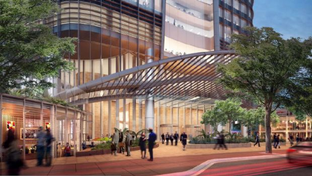 An artist's impression of the proposed building from William Street.
