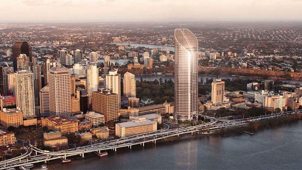 An artist's impression of the proposed 45-storey tower to be built at 1 William Street.