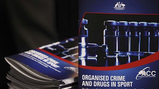 The Government's report on organised crime and drugs in sport was delivered to media representatives at Parliament House ...