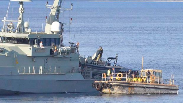 The navy intercepts a boat full of asylum seekers: Australia has been found guilty of violating the human rights of 46 ...