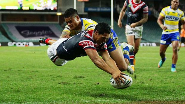 Special talent: Sydney Roosters and New Zealand' Roger Tuivasa-Sheck.