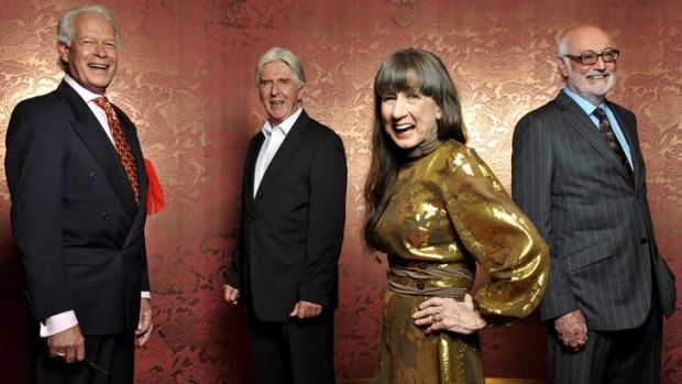 The Seekers...  Keith Potger, Bruce Woodley, Judith Durham and Athol Guy.