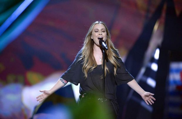 The Netherlands' Anouk performs.