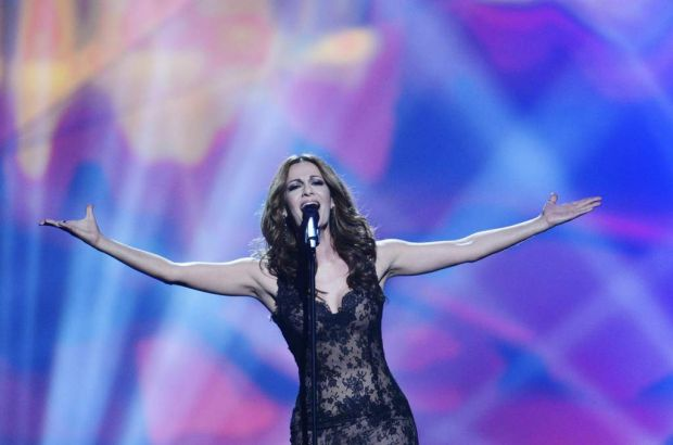Cyprus' Despina Olympiou performs.