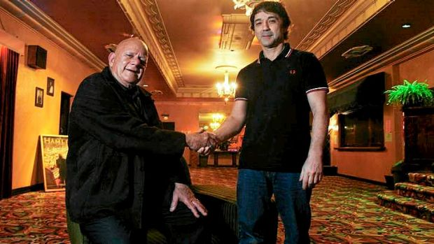 Happier times: Ralph Taranto and George Florence at the Astor in 2012.