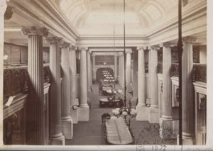 The State Library's Queens Hall in 1859.