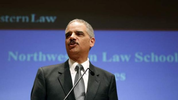 Questioned by the FBI: US Attorney-General Eric Holder.