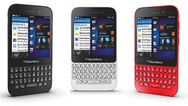 Colourful: The new, low-cost BlackBerry Q5.