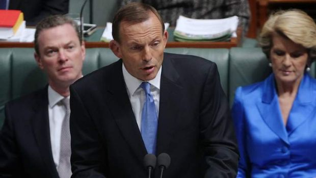 Opposition Leader Tony Abbott said the Labor government would never achieve a surplus in his budget reply speech on Thursday.
