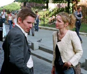 Reunion: Delpy and Hawke in <i>Before Sunset</i>.