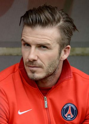 Hanging up his boots: David Beckham.