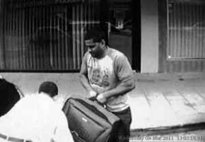 The suitcase he told the driver was ''full of laptops and electrical gear''.