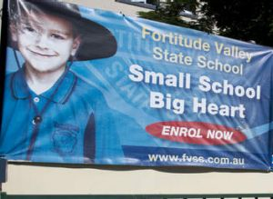 Enrol now? Fortitude Valley State School might already have its final school cohort.