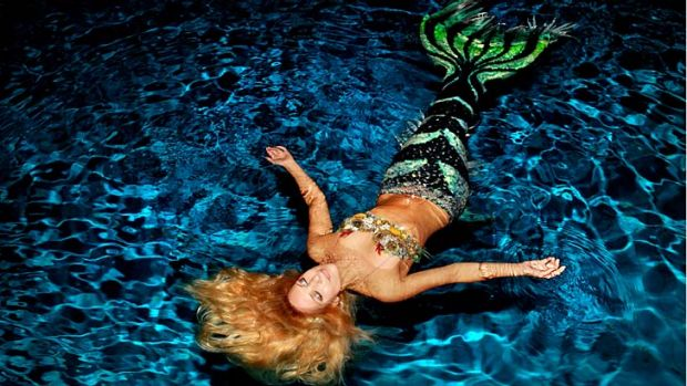 Fishy tail: World-travelling environmental activist and professional mermaid Hannah Fraser, known as Hannah Mermaid.