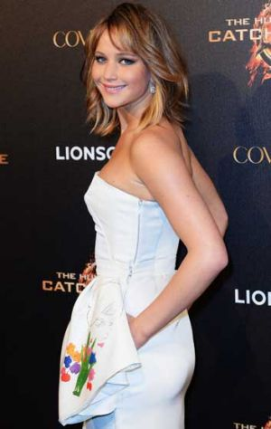 Actress Jennifer Lawrence attends <i>The Hunger Games: Catching Fire</i> party during The 66th Annual Cannes Film ...
