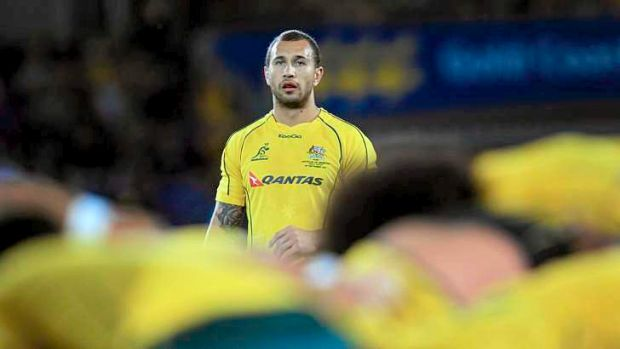 Watching on: Queensland playmaker Quade Cooper was left out of the initial Wallabies squad.