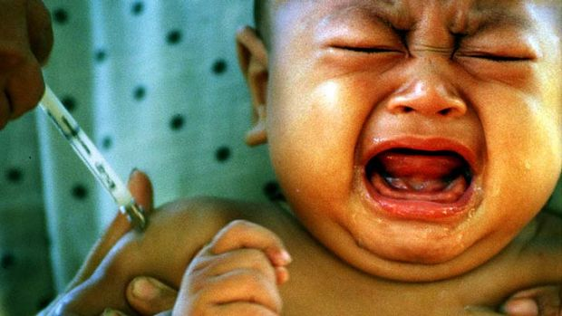 Concerned: 53 per cent of parents are worried about vaccination.