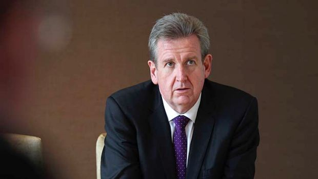 """Time for a """"dinkum"""" discussion: NSW Premier Barry O'Farrell."""