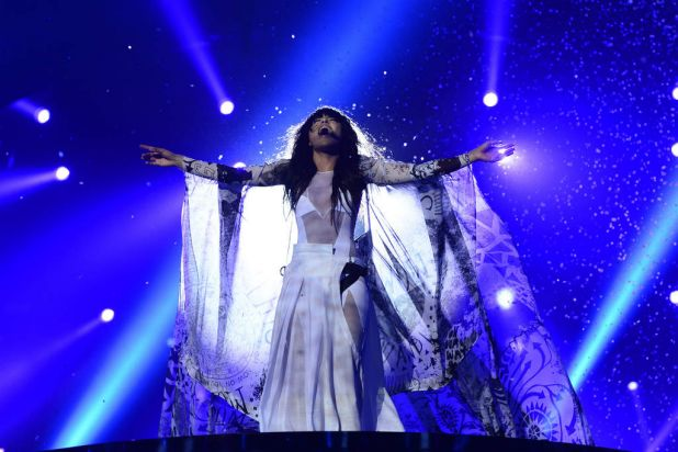 Swedish singer and last year's winner Loreen performs during 2013 Eurovision final the final.