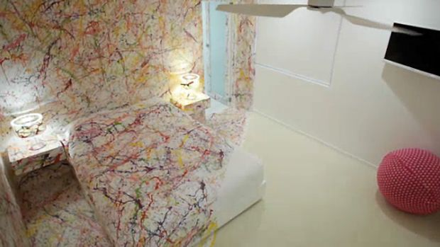 'Worst nightmare': The Jackson Pollock-inspired room by Matt and Kim drew the ire of judges.