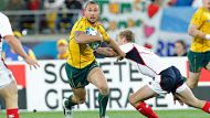 230911 Sport. Photo: Chris Skelton/Fairfax NZAustralia's Quade Cooper during the 2011 Rugby World Cup, Pool C game ...