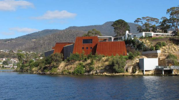 Chilly reception: The Museum of Old and New Art in Tasmania.